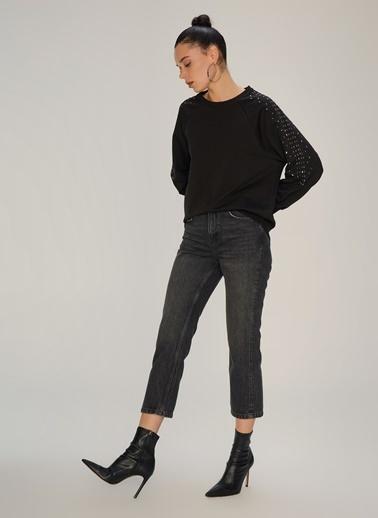 NGSTYLE Taş Detaylı Sweatshirt Siyah